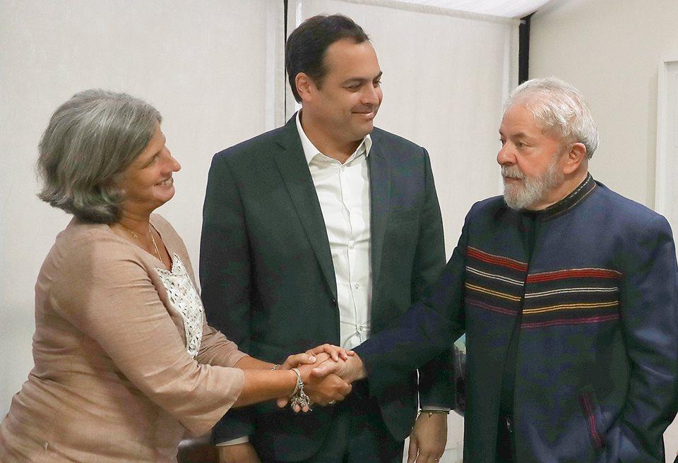 Lula se reúne com Paulo Câmara e Renata Campos em São Paulo - WSCOM