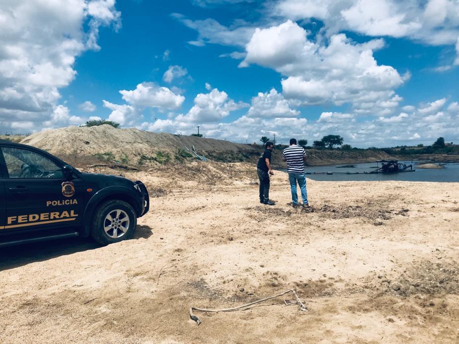 Polícia Federal combate extração ilegal de areia na Paraíba